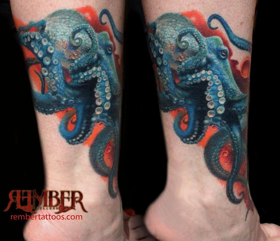 Realistic Octopus Tattoo 23+ Octopus Tattoos On...