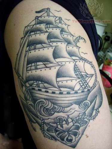 32 simple pirate tattoos collection. Black Bedroom Furniture Sets. Home Design Ideas