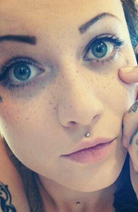 Simple Medusa Piercing With Silver Stud