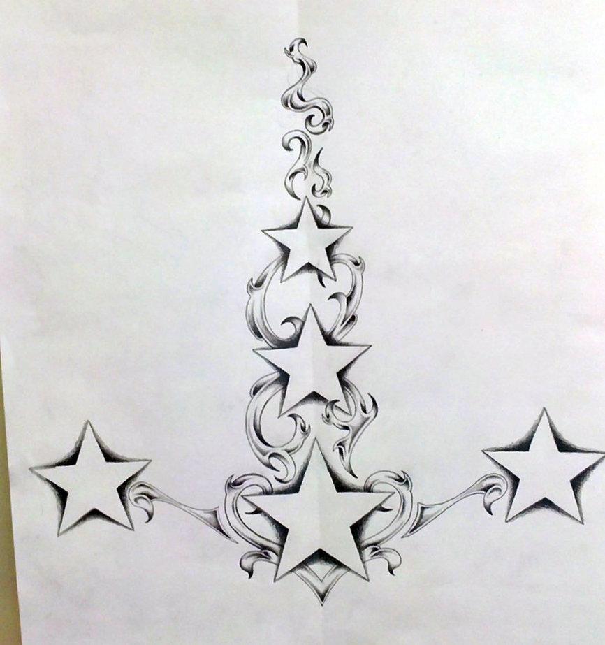 62 nice star tattoos on back. Black Bedroom Furniture Sets. Home Design Ideas
