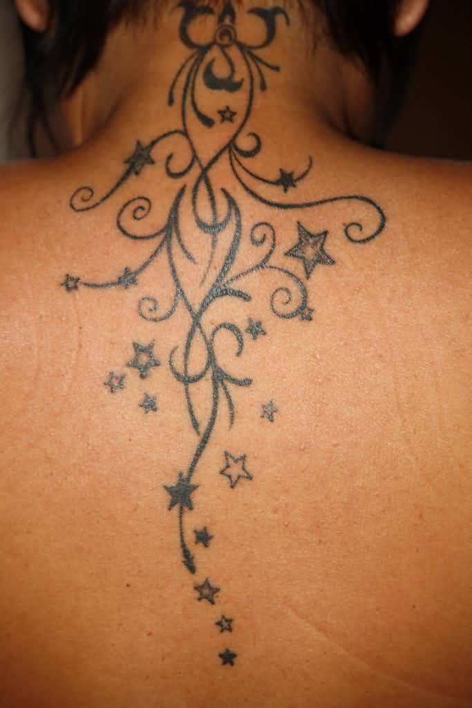 62 nice star tattoos on back. Black Bedroom Furniture Sets. Home Design Ideas