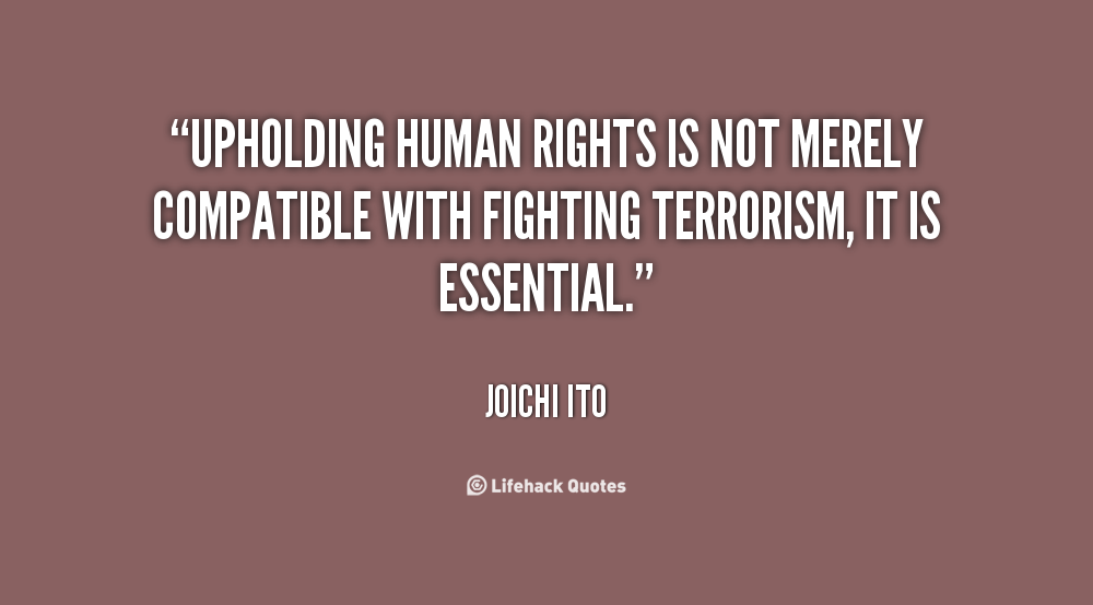 essay human rights fighting terrorism Human rights and terrorism are linked issues for both the victims and perpetrators of terrorist violence.