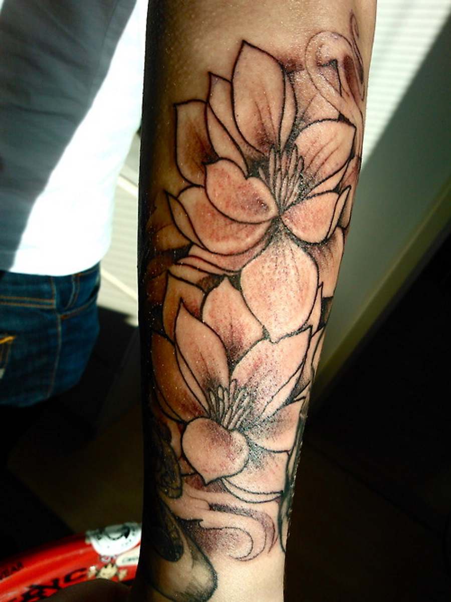 34 black and white lotus tattoos black and white lotus flowers tattoo design for sleeve izmirmasajfo