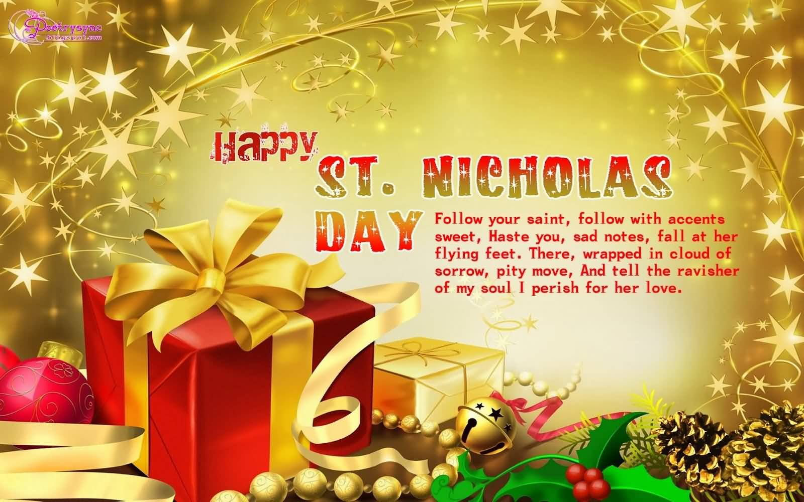 55 beautiful saint nicholas day greeting pictures happy st nicholas day follow your saint follow with accents sweet haste you kristyandbryce Choice Image
