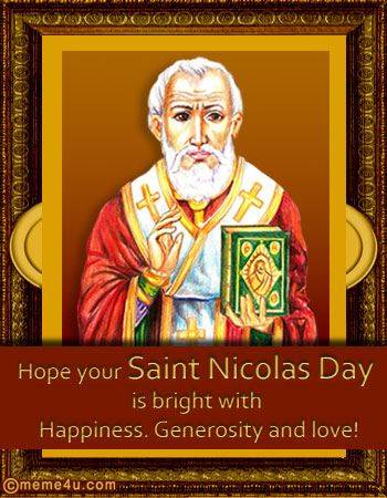 Wonderful Hope Your Saint Nicolas Day Is Bright With Happiness, Generosity And Love