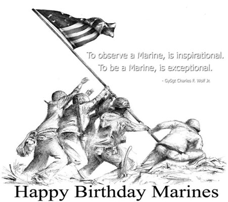 25 beautiful marine corps birthday wish pictures and images to observe a marine is inspirational to be a marine is exceptional happy bookmarktalkfo Gallery