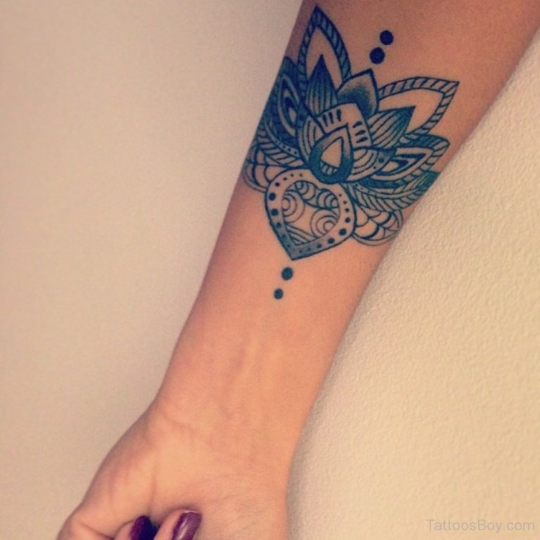 Black Flower Tattoos Wrist: 60+ Best Lotus Tattoos Ideas
