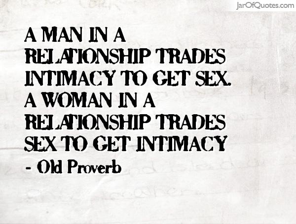 Sex relationships intimacy