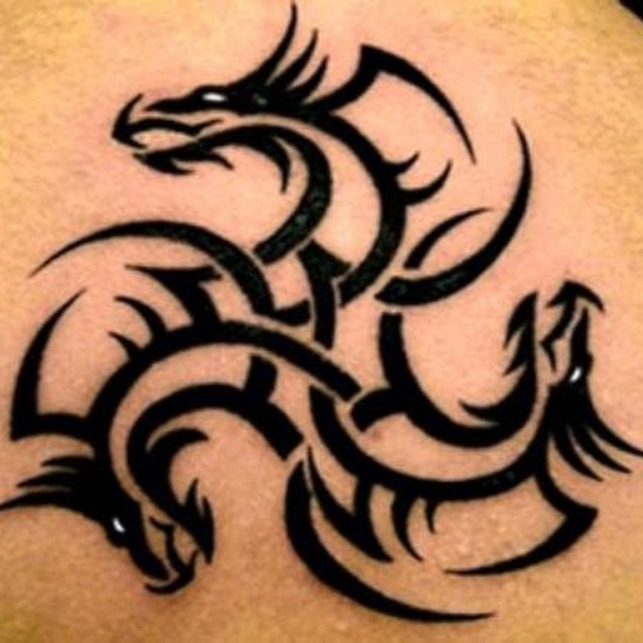 awesome tribal dragon tattoo on leg. Black Bedroom Furniture Sets. Home Design Ideas
