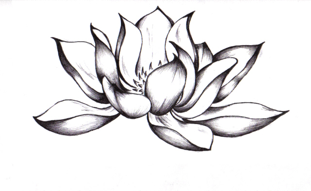 39 awesome lotus tattoo designs attractive black ink lotus flower tattoo design mightylinksfo