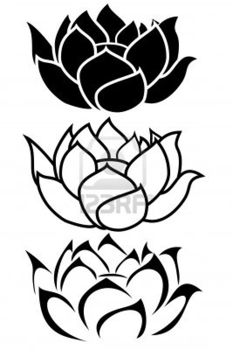 33 lotus tattoo stencils designs. Black Bedroom Furniture Sets. Home Design Ideas