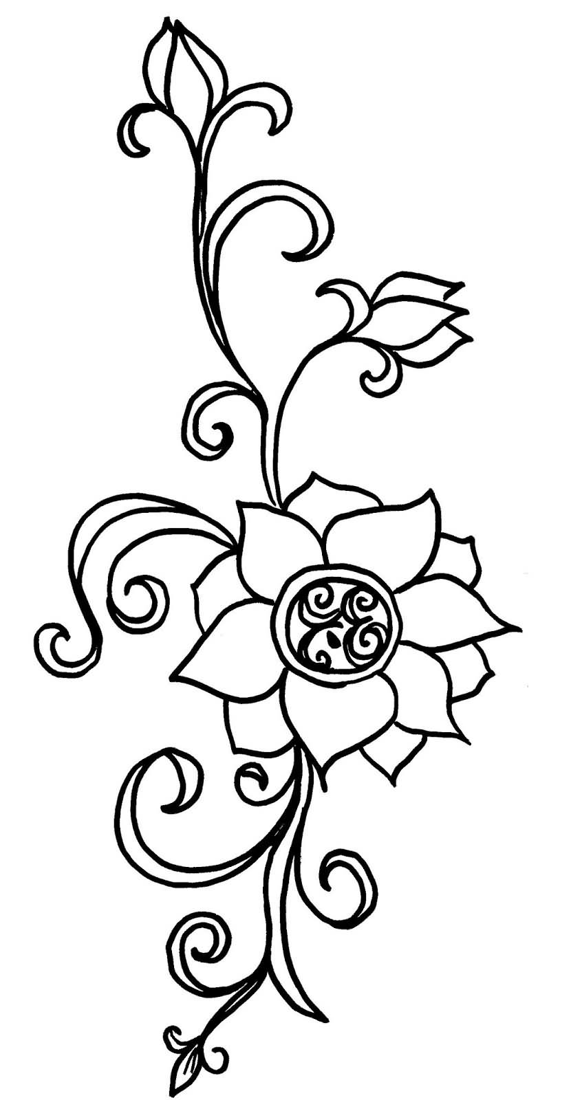 Awesome black lotus flowers tattoo stencil izmirmasajfo