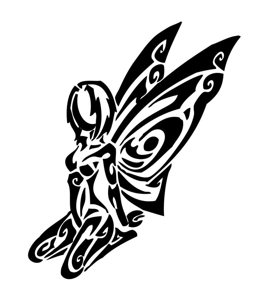 Fairy And Butterfly Stencils : Tribal fairy tattoos collection