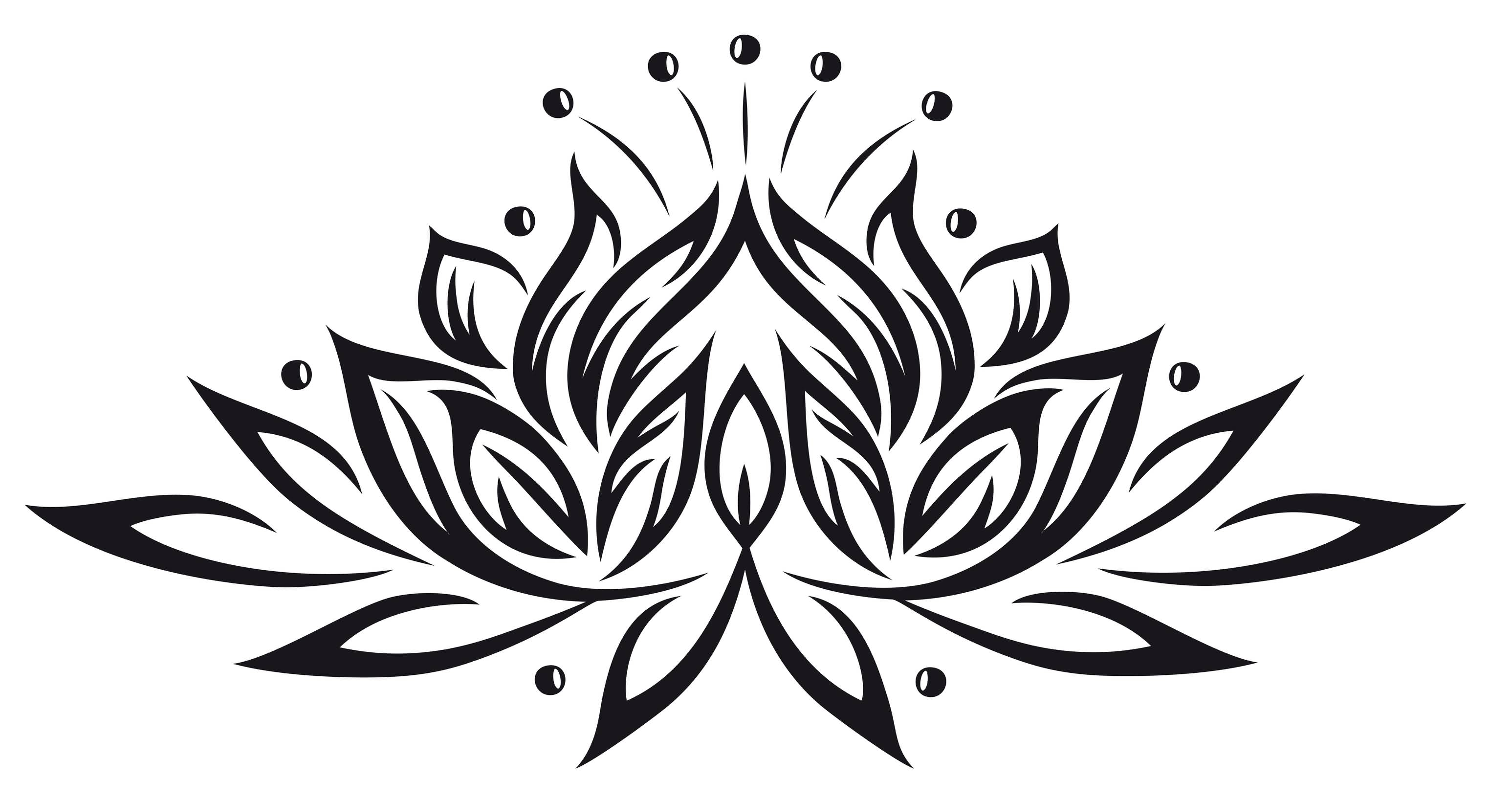 28 tribal lotus tattoos collection awesome black tribal lotus tattoo stencil izmirmasajfo
