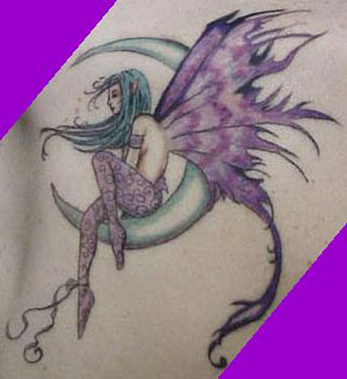 39+ Fairy Tattoos With Moon
