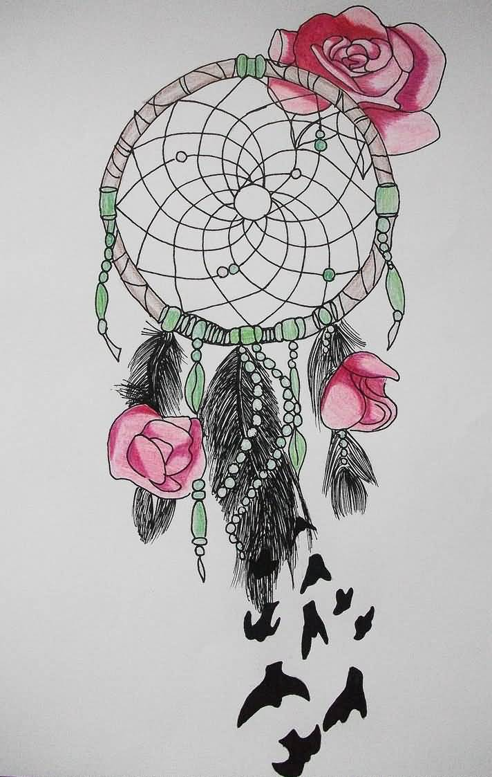 A Design Dream: 36+ Dreamcatcher With Roses Tattoos Ideas