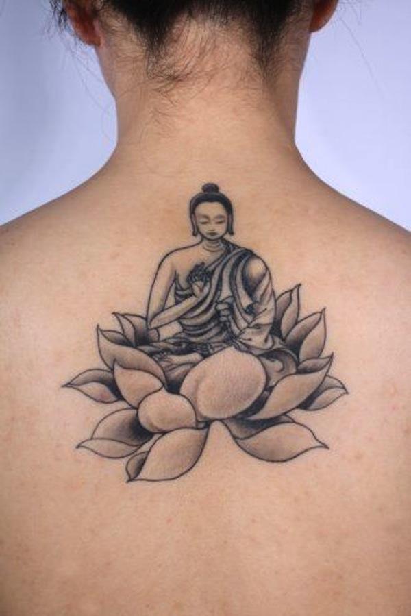 45 lotus tattoos for female for Black lotus flower tattoo