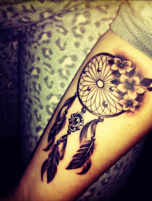 Nice Dream Catchers 40 Nice Dreamcatcher Tattoos Designs 32