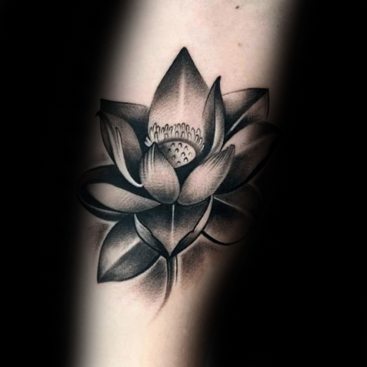 Gray Black And White Bedroom: 42+ Black & Grey Lotus Tattoos & Designs