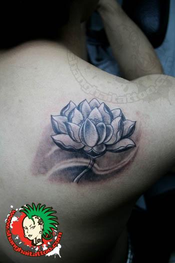 42 black grey lotus tattoos designs