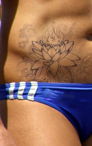 21 best lotus tattoos on hip. Black Bedroom Furniture Sets. Home Design Ideas