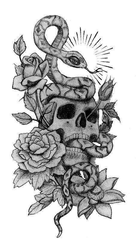 33 snake and rose tattoos. Black Bedroom Furniture Sets. Home Design Ideas