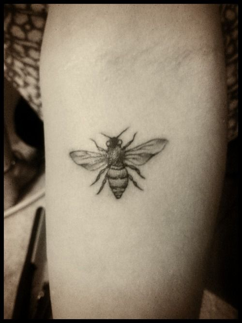27 Black And White Bumblebee Tattoos