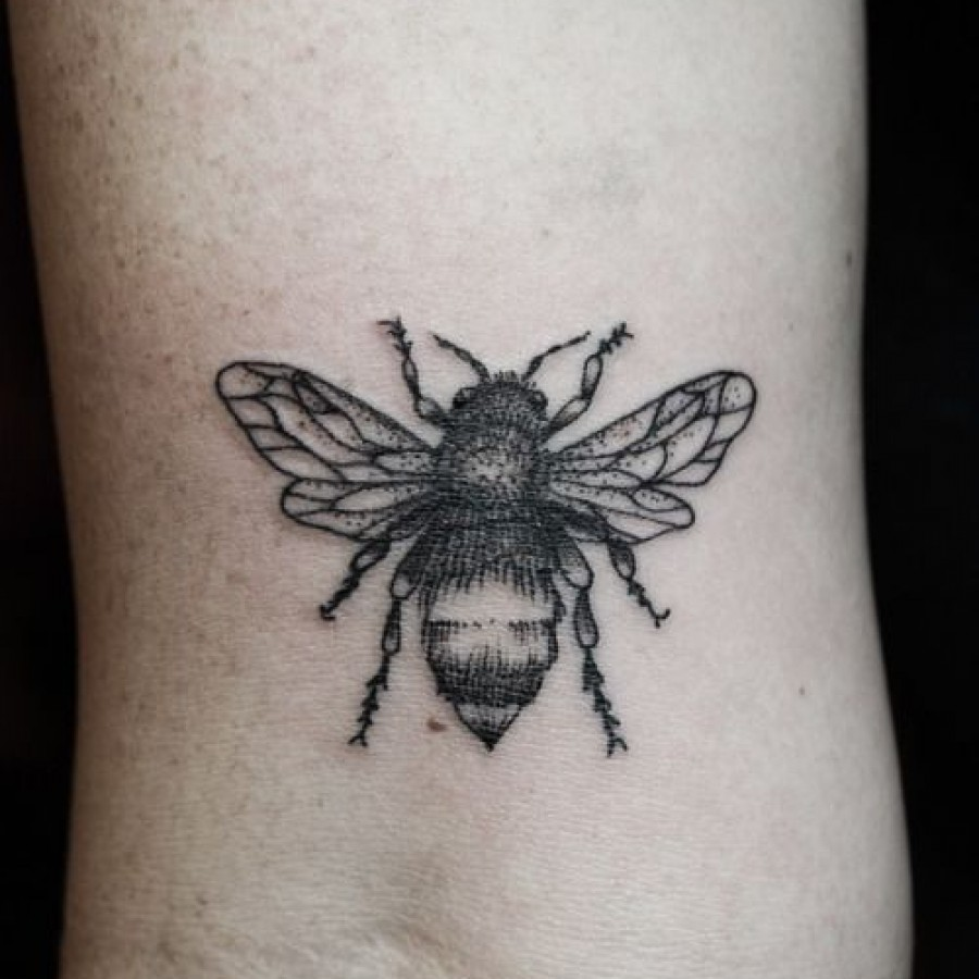 27 black and white bumblebee tattoos. Black Bedroom Furniture Sets. Home Design Ideas