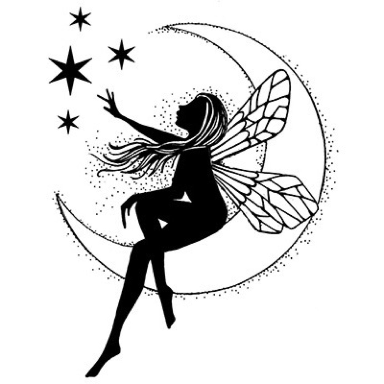 19 fairy with stars tattoos ideas