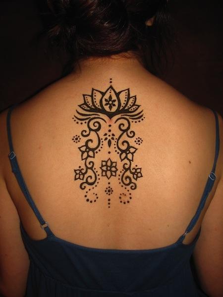 Henna Flower Tattoos: 33+ Best Henna Lotus Tattoos & Designs