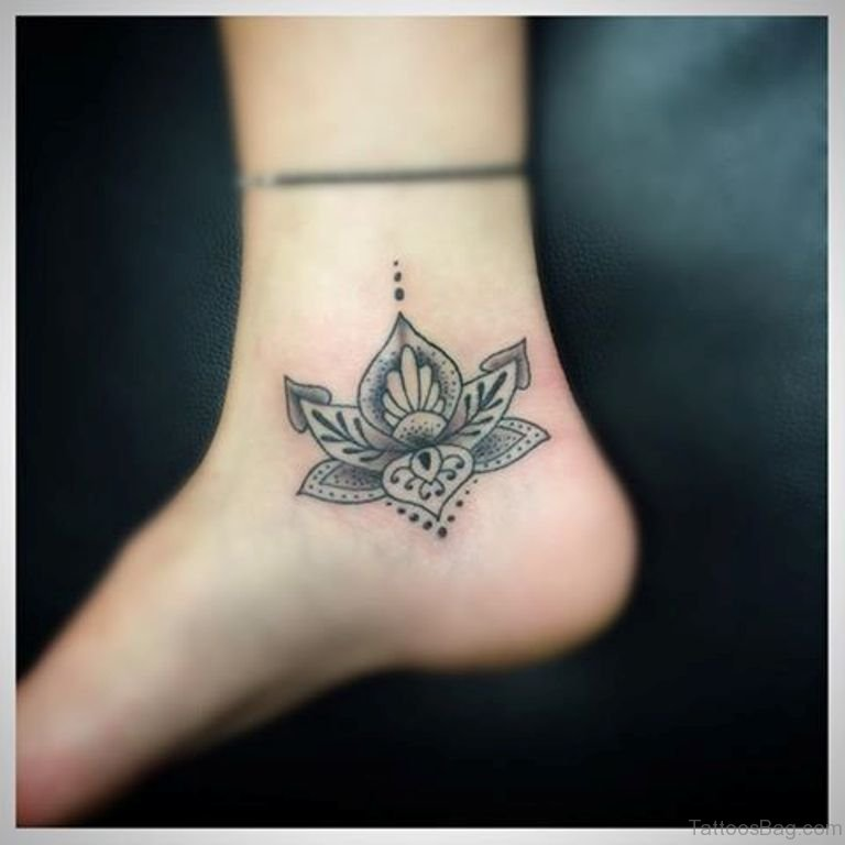 34 Best Lotus Flower Tattoos On Ankle