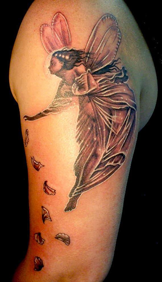 25 fairy tattoos on arm. Black Bedroom Furniture Sets. Home Design Ideas
