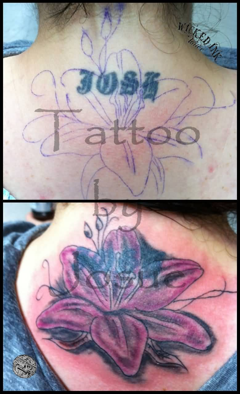Lower back tribal tattoo cover up images for tatouage for Cover up tattoos ideas for lower back