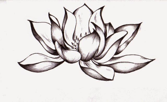 33 Lotus Tattoo Stencils Designs
