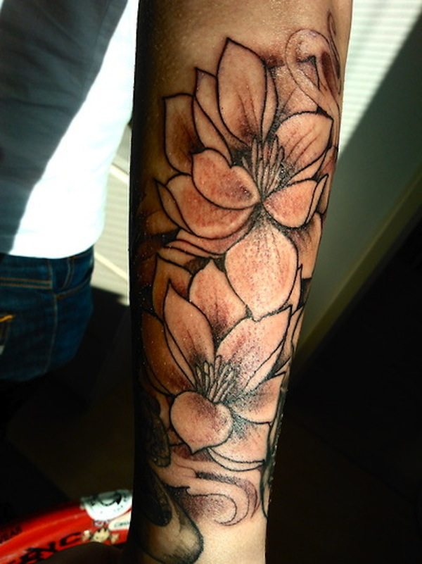 Lotus Flower Tattoo On Upper Arm Flowers Healthy