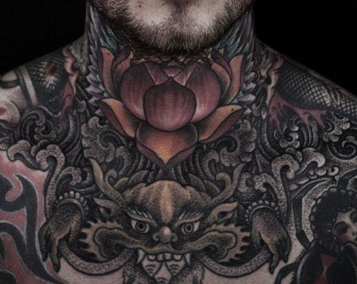 38+ Lotus Tattoos For Neck