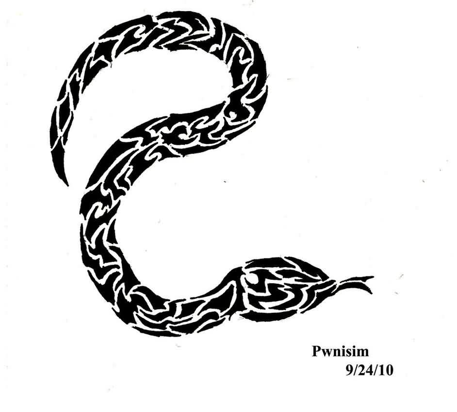 53 black snake tattoos ideas