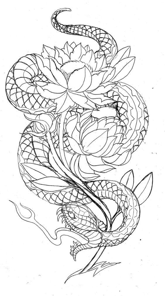 42+ Japanese Snake Tat...