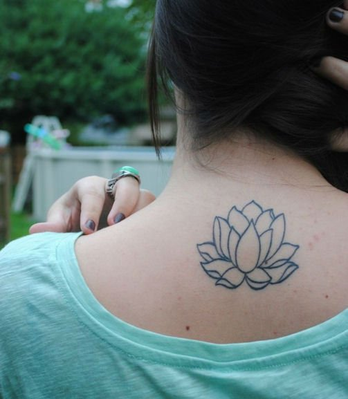 Simple Lotus Flower Tattoo: 53+ Best Lotus Tattoos & Designs