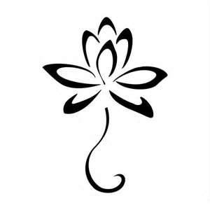 black tribal lotus tattoo design rh askideas com tribal lotus flower tattoos tribal lotus flower tattoos