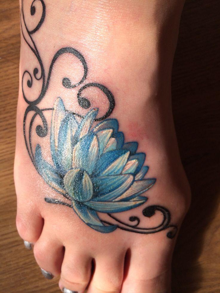 37 lotus tattoos on foot. Black Bedroom Furniture Sets. Home Design Ideas