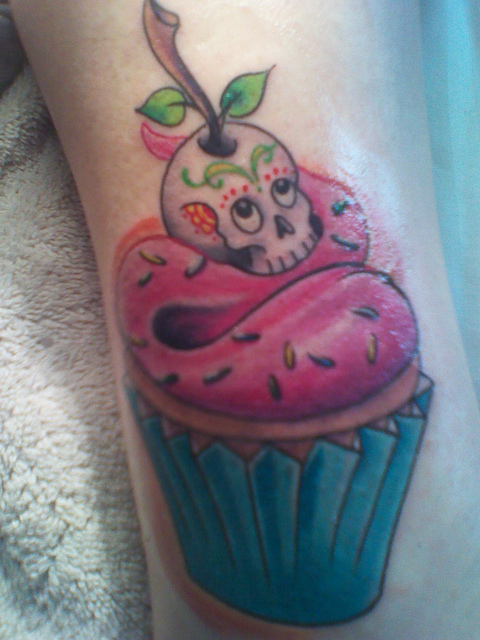 Evil cupcake cherry pictures to pin on pinterest tattooskid for Tree of knowledge of good and evil tattoo