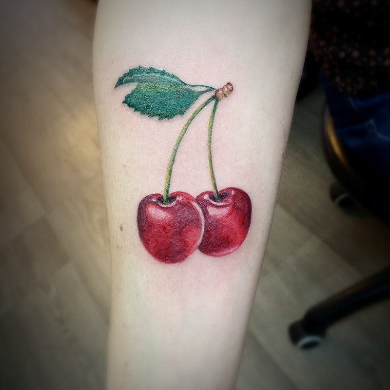 55 best cherry tattoos collection cherry tattoos on forearm urmus Gallery