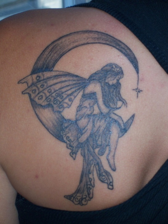 38 fairy tattoos on back shoulder. Black Bedroom Furniture Sets. Home Design Ideas