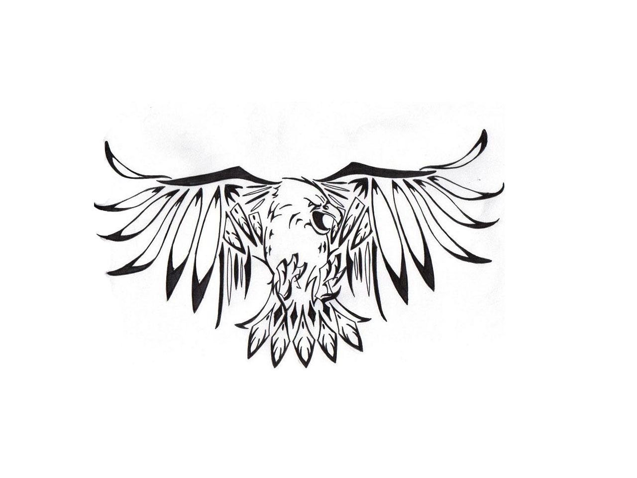 Classic black flying eagle tattoo design biocorpaavc Choice Image
