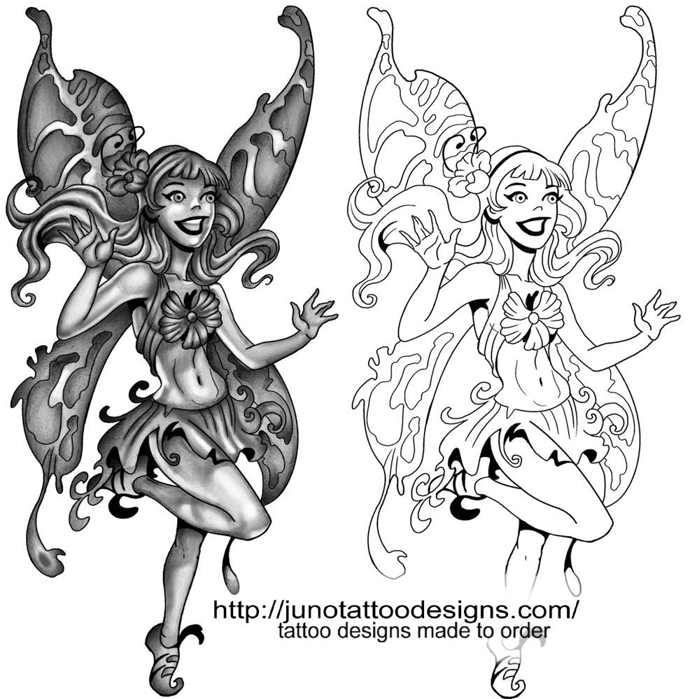 How To Plan Your Custom Tattoo Design: 34+ Fairy Tattoos Stencils