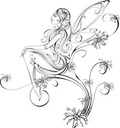 34 fairy tattoos stencils. Black Bedroom Furniture Sets. Home Design Ideas