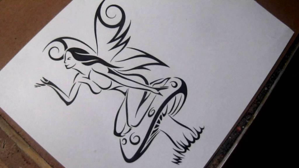 tribal mushroom tattoo the image kid has it. Black Bedroom Furniture Sets. Home Design Ideas