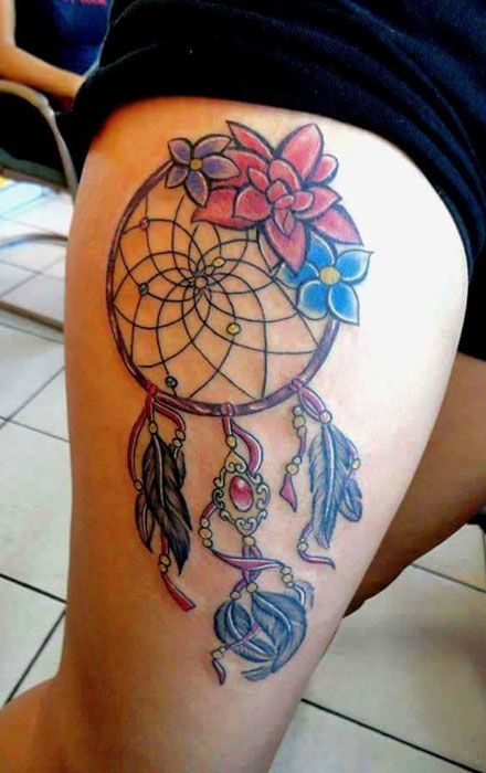 30 latest dreamcatcher tattoos collection. Black Bedroom Furniture Sets. Home Design Ideas