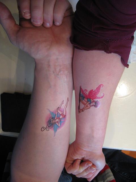 8 fairy tattoos on forearm for Skull fairy tattoos
